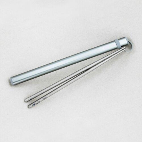 Keith Titanium Ti5820 Round Handle Chopsticks with Al Case Set of 5 colors