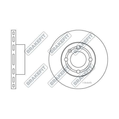 Genuine Brakefit Front Vented Brake Disc /& Pad Set SDK6032 /& PD3028