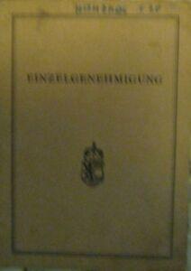 Hanomag-Henschel-F20-F20-Diesel-Osterreichischer-Typenschein-1972-SAMMLER