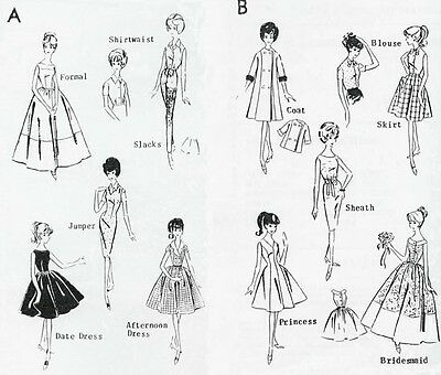 "VINTAGE MAIL ORDER 11.5"" FASHION DOLL PATTERN 3804"