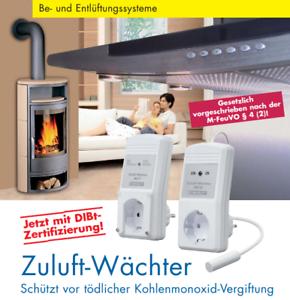 Luftdruckwächter Abluftsteuerung Zuluft-Wächter MZ-Funk//Kabel Marley DIBt NEU