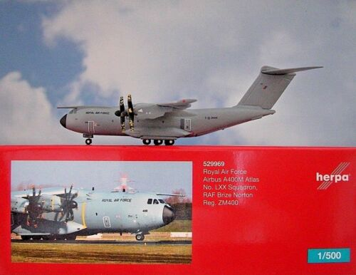 Herpa Wings 1:500 Airbus A400M  Royal Air Force ZM400  529969  Modellairport500