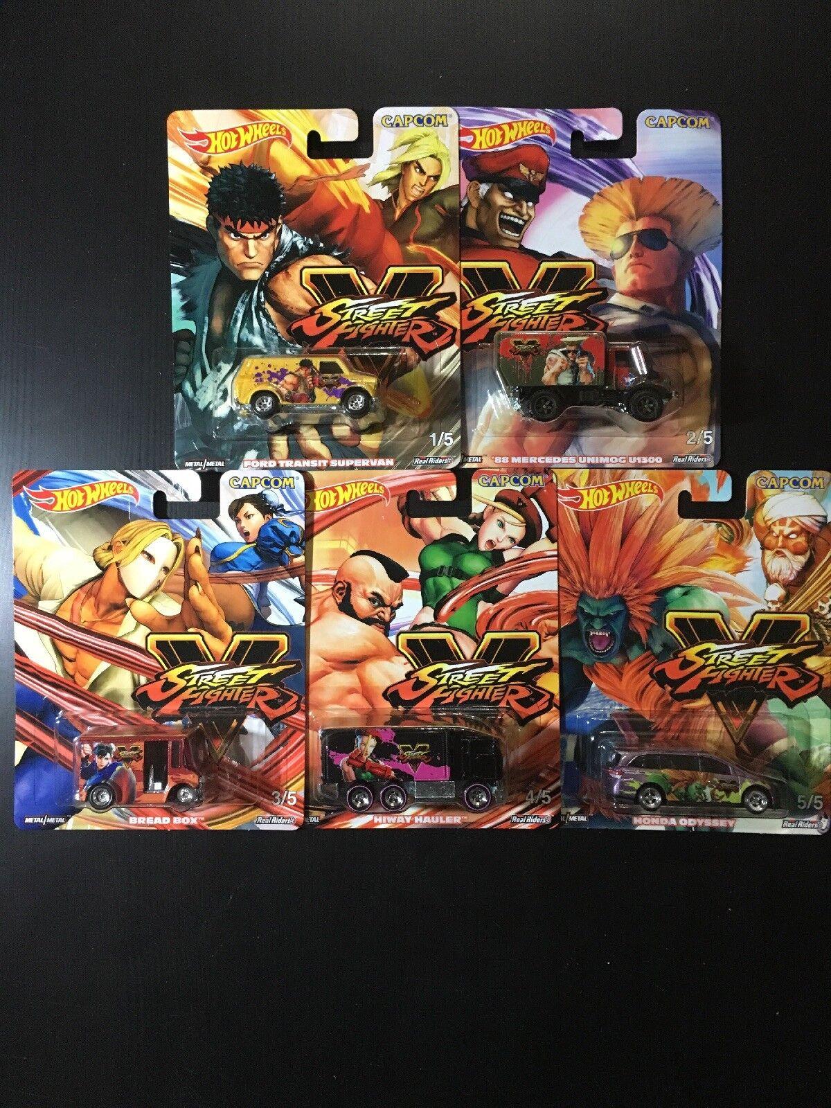 Hot Wheels Capcom Street Street Street Fighter V Complete Set Of 5 74e37f
