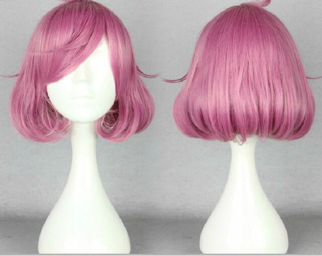 Noragami Kofuku Wavy Anime Costume Cosplay Mix pink purple Wig  @01