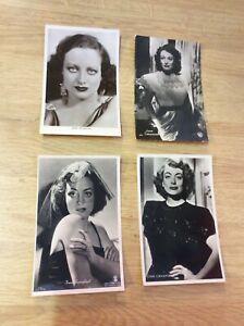 Joan-Crawford-4-alte-Starpostkarten