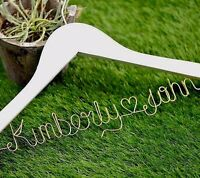 Personalized Wedding Hanger Bridal Shower Hanger Bride Bridesmaid Name Hanger