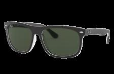 Ray Ban Black / Dark Green Rectangular Men's Sunglasses RB4226 605271 56