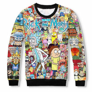 08dd9761682c6 New Women Men 3D Sweatshirt Rick and Morty Cartoon Print Casual ...