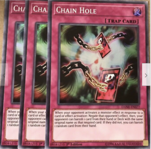NM//M 3x CHAIN HOLE Super Rare DANE-EN077 1ST EDITION Yu-Gi-Oh