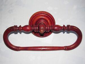 10D9-Antiguo-Puerta-Toalla-Madera-Rotacion-Curva-Epoca-1900-Deco-Sala-de-Bano