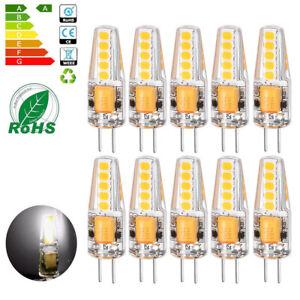 10-x-G4-LED-6W-COB-Lampen-Stiftsockel-Leuchtmittel-Kaltweiss-Birne-AC-DC-12V
