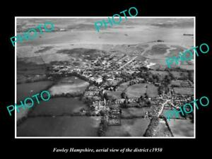 OLD-LARGE-HISTORIC-PHOTO-FAWLEY-HAMPSHIRE-ENGLAND-DISTRICT-AERIAL-VIEW-c1950-1