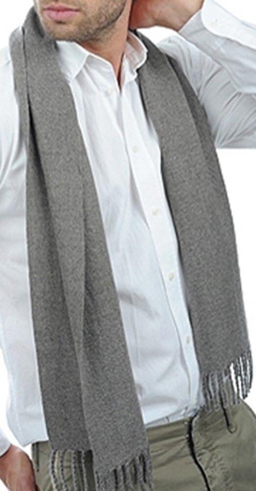 Balldiri 100% Cashmere Schal 200 x 35 cm 4-fädig gewebt graubraun meliert