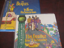 THE BEATLES YELLOW SUBMARINE SOUNDTRACK & NOTHING IS REAL JAPAN OBI 2003 LP SET