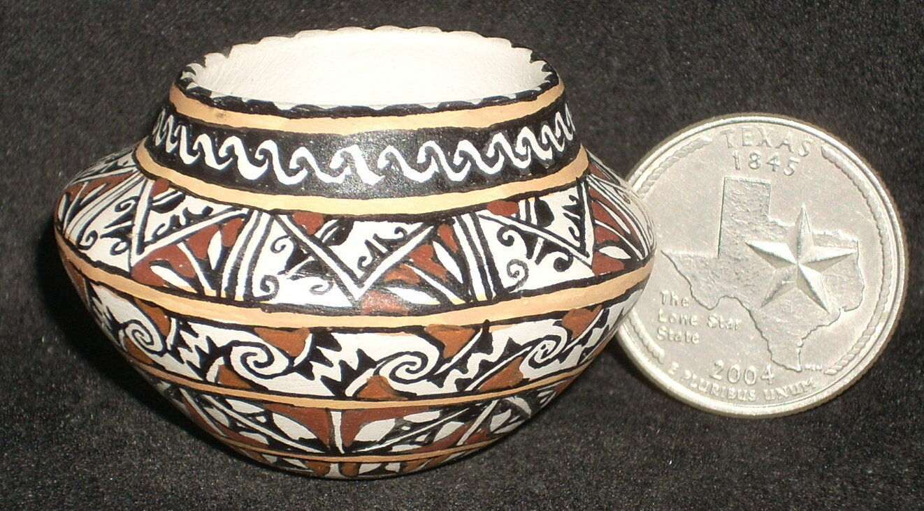 punto de venta en línea Miniatura Southwest Southwest Southwest Nativa Americana India Gloria bogulas tazón 1 12   0341  ahorra hasta un 30-50% de descuento