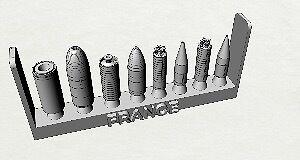Célébrez le Nouvel An, accueillez le Nouvel An missiles et vous le rend! Set de missiles An balistiques français 1/700 94c23e