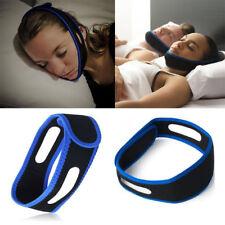 Anti Snore Stop Snoring Sleep Apnea Strap Belt Jaw Solution Chin Support Aid