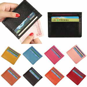 Leder-Kartenetui-Slim-Kartenhalter-Geldboerse-Kreditkartenetui-Ausweisetui-Wallet