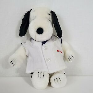 Snoopy-Dog-with-Baseball-Outfit-Plush-10-034-Stuffed-Animal-Vintage-Peanuts-Korea