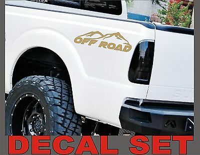 4x4 OFF ROAD Truck Decals METALLIC GOLD Set for Ford F-150 Super Duty and Ranger