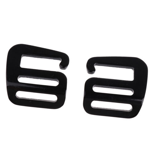 2 Pcs 1 inch G Hook Outdoor Webbing Buckle for Backpack Strap 25mm