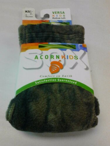 S Acorn Kids Socks Breathable Fleece NEW NWT Camo  XS