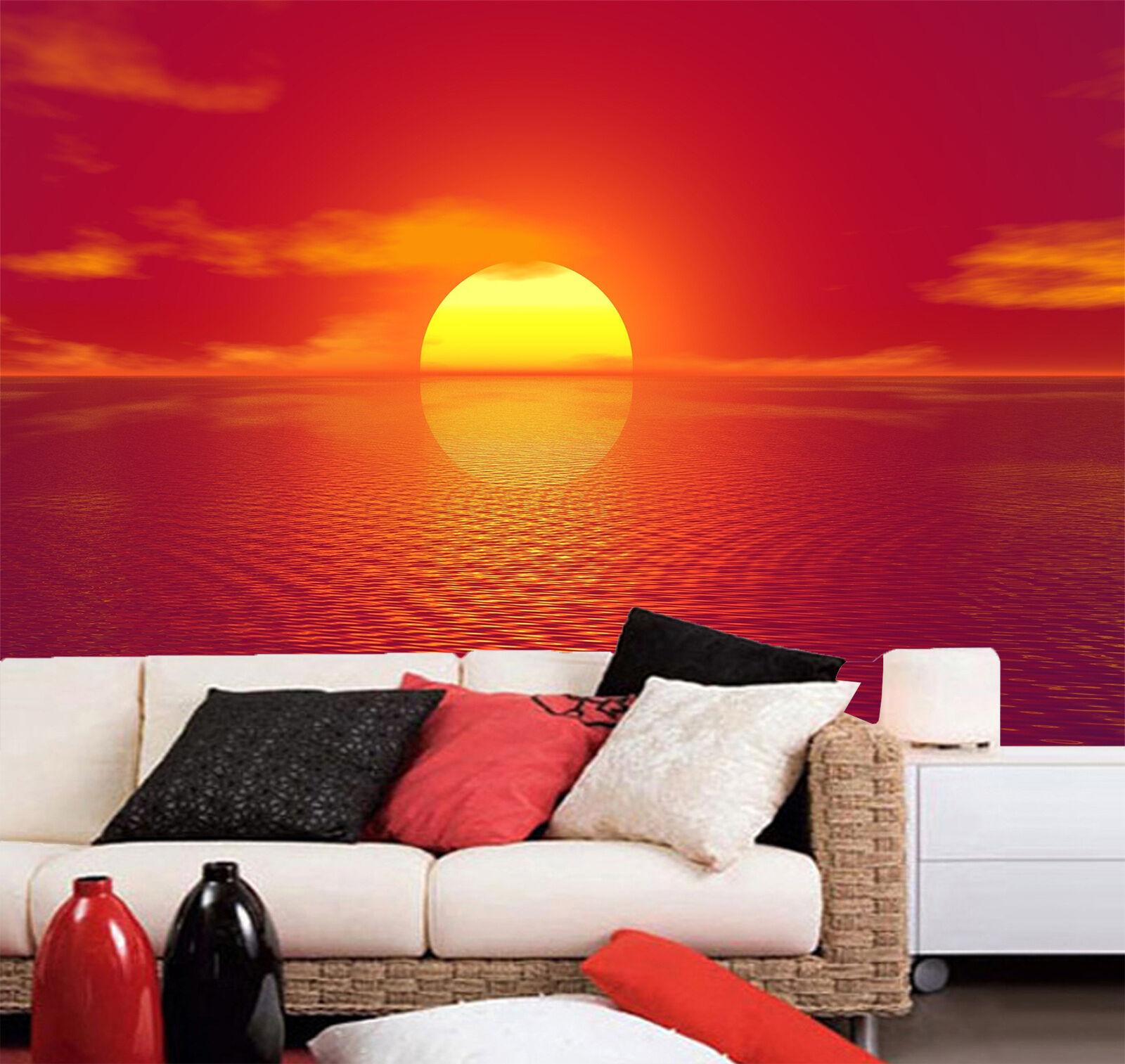 3D Sun rise rot sky Sea pretty Wall Paper Wall Print Decal Wall AJ WALLPAPER CA