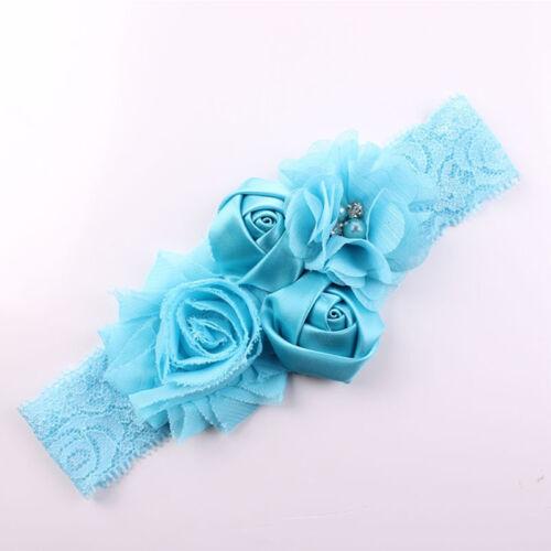 1pcs Soft Lace Baby Headband Chic Flower Girls Headband  Bow Flower Headband
