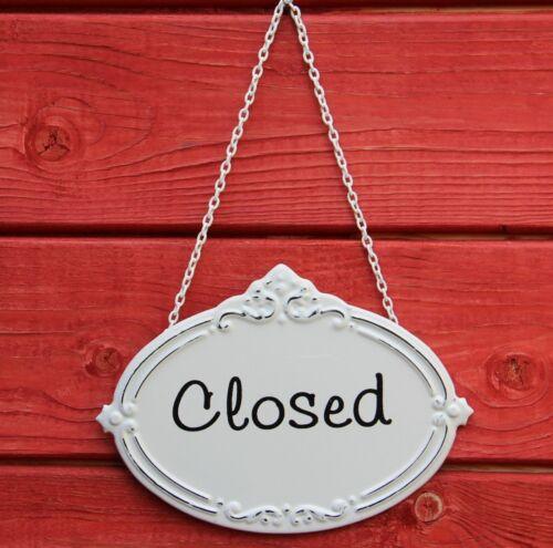 Metallschild Shabby Schild im Antik Look Geschlossen Türschild Closed