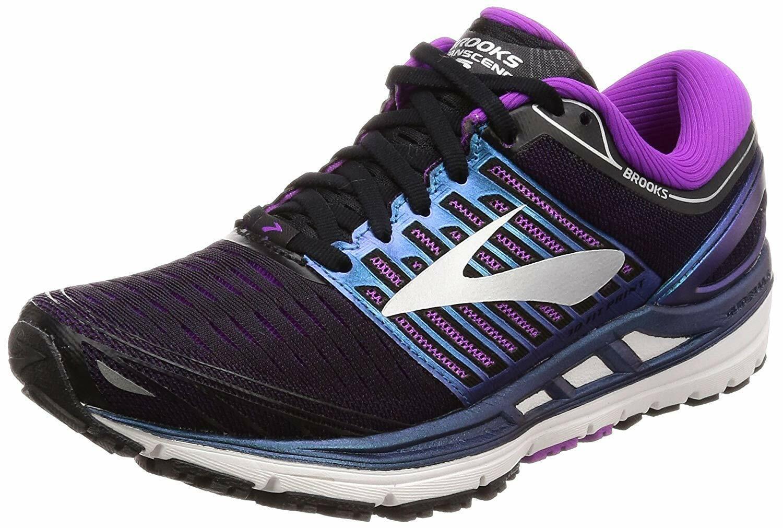 Brooks Mujer Transcend 5 Calzado para Correr Negro Púrpura