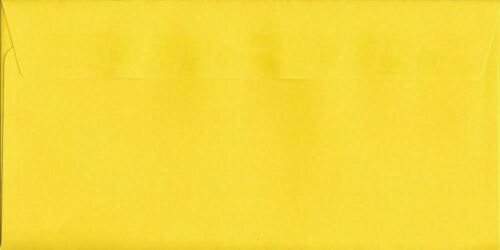 Colour Envelopes Canary Yellow 114mm x 229mm Peel//Seal 120gsm DL+ Tri-Fold A4