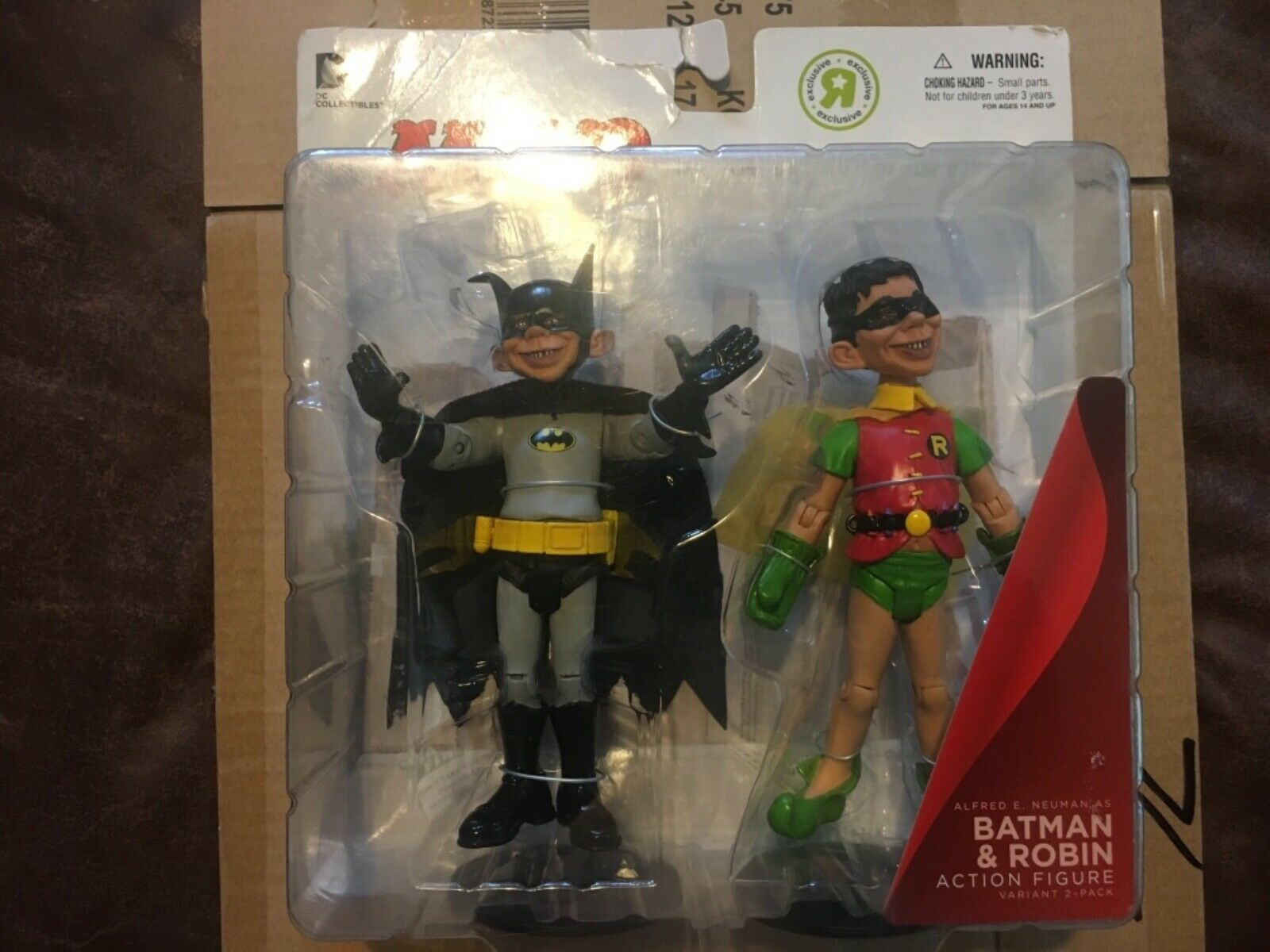 DC Collectibles MAD Just-Us League of Stupid Heroes Batman Robin Juguetes R Us