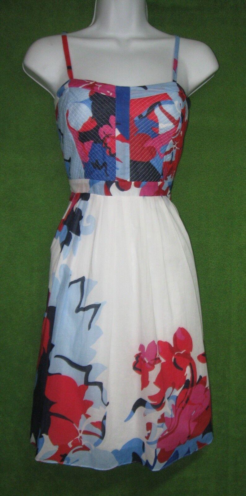 Cynthia Rowley Flerfärgig bomull Lucy Floral Pretty Please Sun Dress 4  119