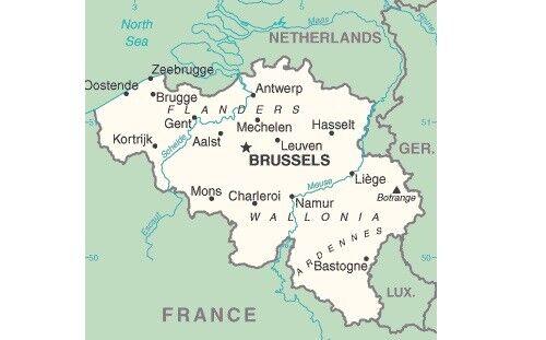 versch bis 40 cm robuster Stoff Versandfrei Gastlandflagge Belgien Größen