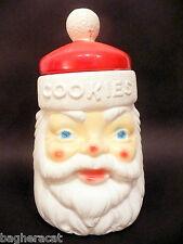 1970s Vintage SANTA Cookie Jar - EMPIRE Plastic Blow Mold -- GREAT CONDITION