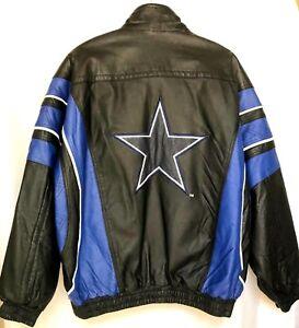 new concept 7dafa 655f6 Details about Dallas Cowboys Starter Jacket Men's All Leather Vintage Large  1990 Football Coat