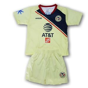on sale 5a203 358cc Details about Club America Youth Home Soccer Set 2 Pcs Jersey & Shorts