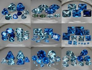 Lab-Created-Blue-Spinel-AAA-Synthetic-Loose-Gemstone-Many-Sizes-Colors-amp-Cuts
