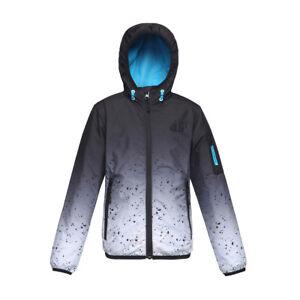 Boys-039-Lightweight-Water-Resistant-Zipper-Hooded-Windbreaker-Jacket-Coat-Outwear