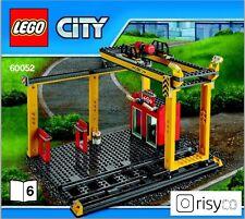 Lego® City Güterbahnhof mit Brücken Kran inkl. Schienen (60052) NEU 7939 3677