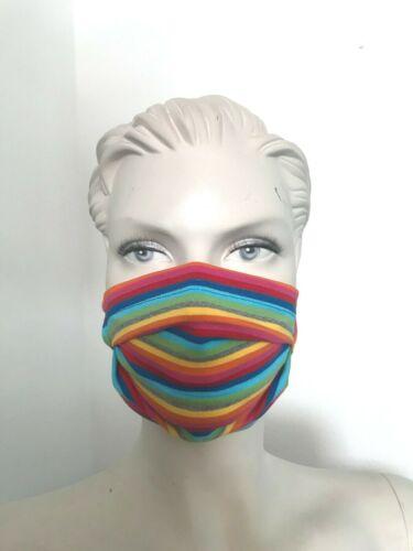 Kind Teenager  bunte Streifen Behelfsmaske bis 60°C Waschbar sofort lieferbar
