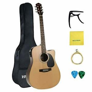 41in-Full-Size-Acoustic-Guitar-Cutaway-5-Band-EQ-with-Gig-Bag-Capo-Strings-Picks