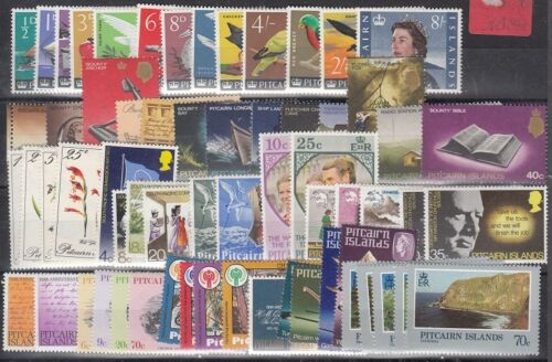 Pitcairn Islands Scott 39 // 202 Mint hinged sets (some NH) - Catalog Value $83