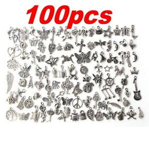 Lots-100pcs-Bulk-Tibetan-Silver-Mix-Charm-Pendants-Jewelry-Making-DIY-Craft-Xmas