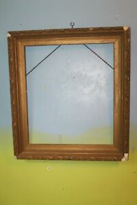 Antique-Wood-Gilt-Gold-Gesso-Picture-Frame-24-034-x-21-034-x-2-1-2-034-Deep