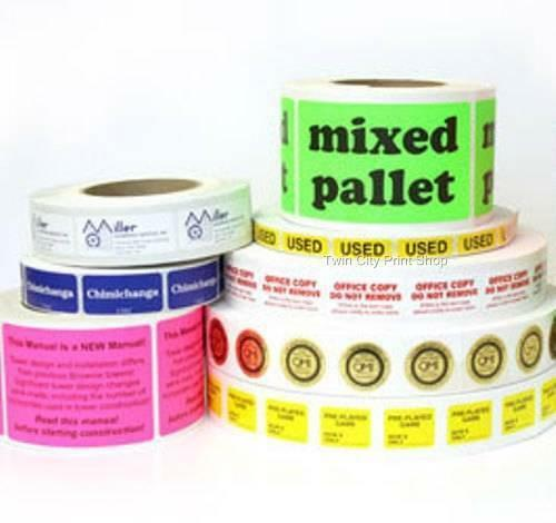 """1-Color ink Custom Business Stickers 1,000 Rectangle 1-1//2/"""" x 4/"""" Printed Labels"""