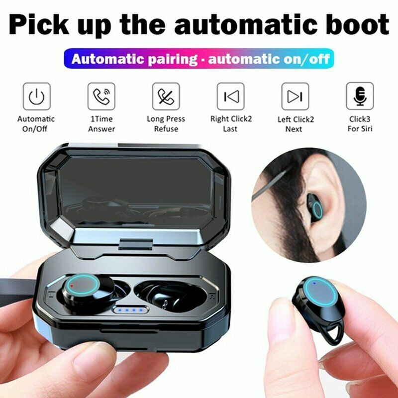 True Wireless Earbuds Headphones Hifi Sound Touch Control 3000mah Charging Case For Sale Online Ebay