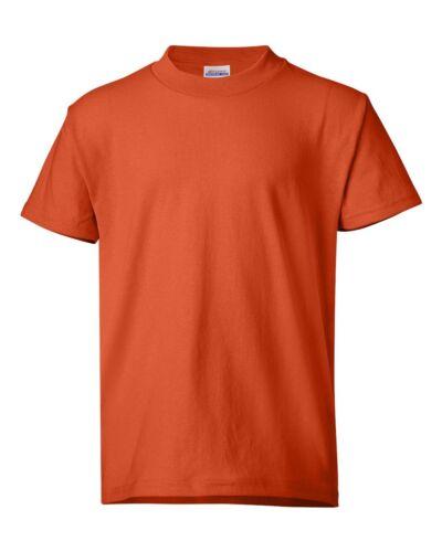 5370 Hanes ComfortBlend Ecosmart 50//50 Kids Plain Tee Youth T-Shirt XS-XL