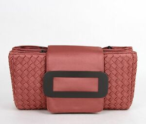 02b225380786 Details about New BOTTEGA VENETA Coral Intrecciato Tote Handbag Chain  Handle 309348 6323