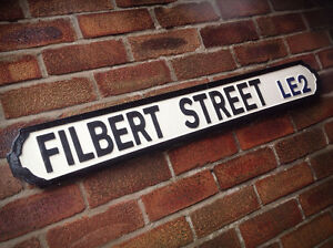 Filbert Street Vintage Leicester Street Sign City Road Sign Football